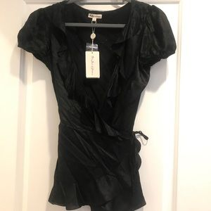 For Love and Lemons black wrap top